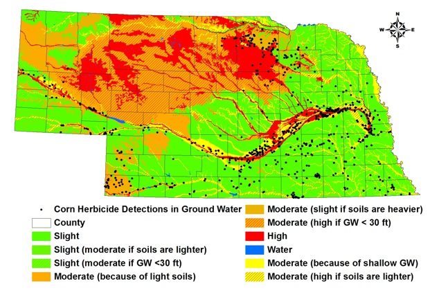 ground water vulnerability map